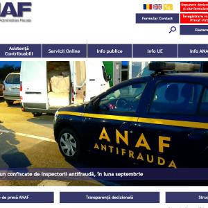 Site-ul ANAF are o noua forma
